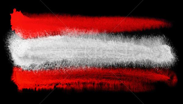 Oostenrijk vlag illustratie aquarel achtergrond kunst Stockfoto © prill