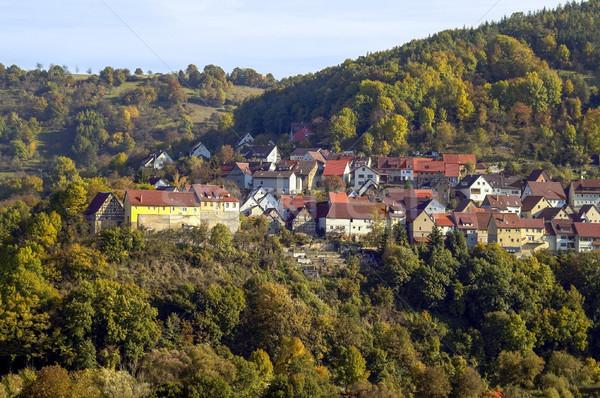 Belsenberg in Hohenlohe Stock photo © prill