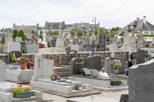 Mezarlık kasaba bölüm taş ibadet mimari Stok fotoğraf © prill