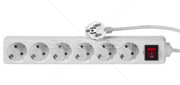 Blanche multiple socket plug studio photographie Photo stock © prill