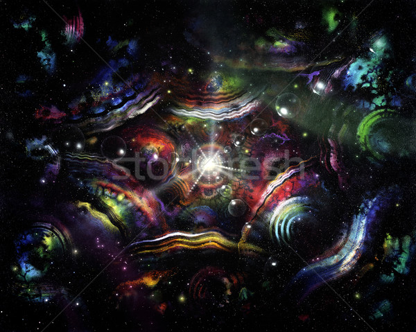 colorful spacy background Stock photo © prill