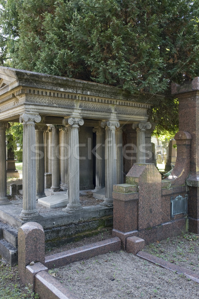 detail of a jewish graveyard Stock photo © prill