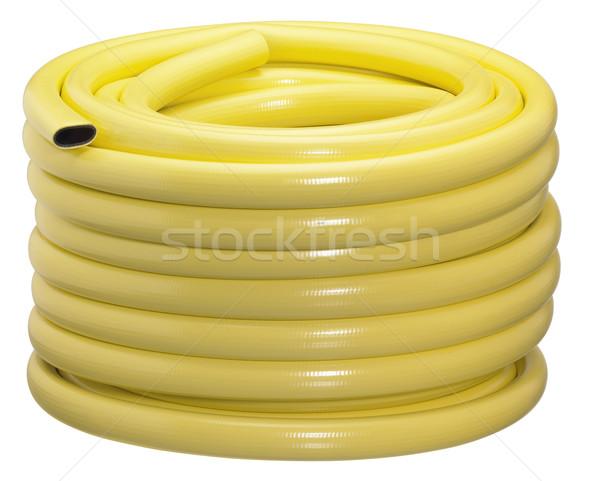 Giallo tubo isolato bianco clean plastica Foto d'archivio © prill