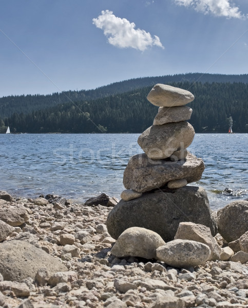 pebble pile at summer time Stock photo © prill