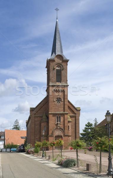church in Mittelbergheim Stock photo © prill