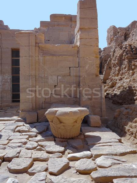 Ruines archéologique oasis Egypte construction Photo stock © prill