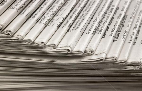 Periódicos fotograma completo papel periódico comunicación Foto stock © prill