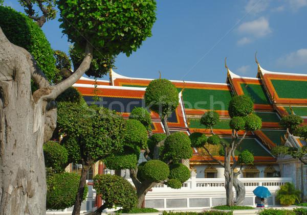 Saray Bangkok Tayland ağaç Bina park Stok fotoğraf © prill