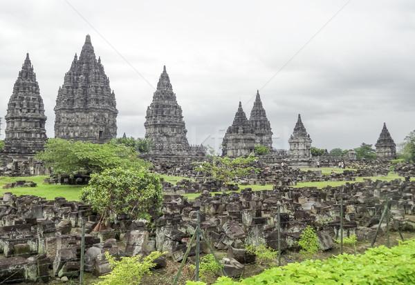 Java templo isla Indonesia edificio arte Foto stock © prill