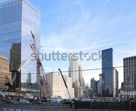 építkezés föld nulla napos városkép New York Stock fotó © prill