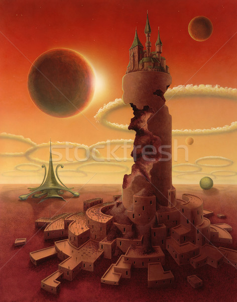 surreal futuristic scenery Stock photo © prill