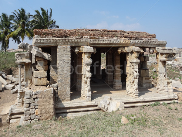 temple remains around Hampi Stock photo © prill