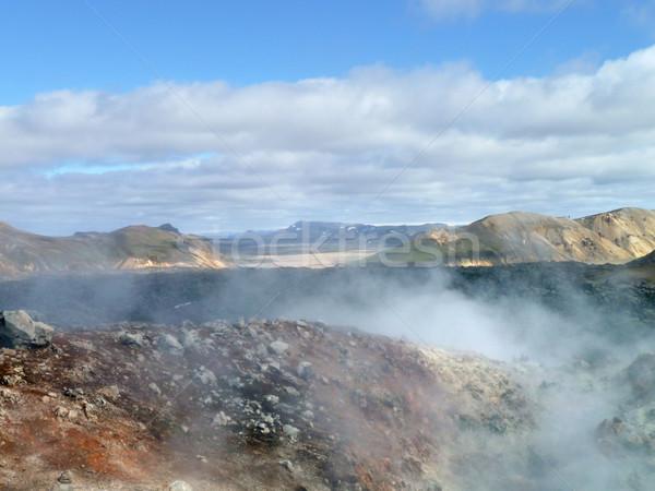Thermisch bad IJsland landschap water natuur steen Stockfoto © prill