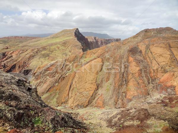 Sziget Madeira hegy díszlet utazás kő Stock fotó © prill