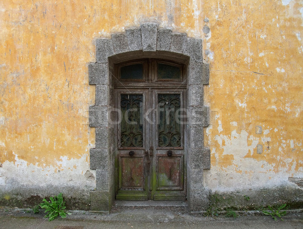 door at Pont-Aven in Brittany Stock photo © prill