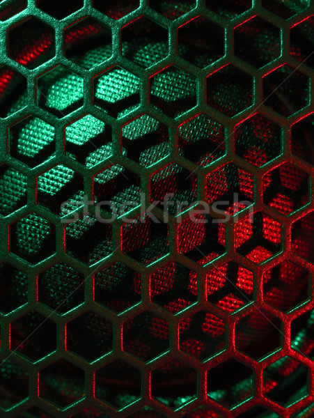 Altoparlante griglia full frame colorato dettaglio Foto d'archivio © prill