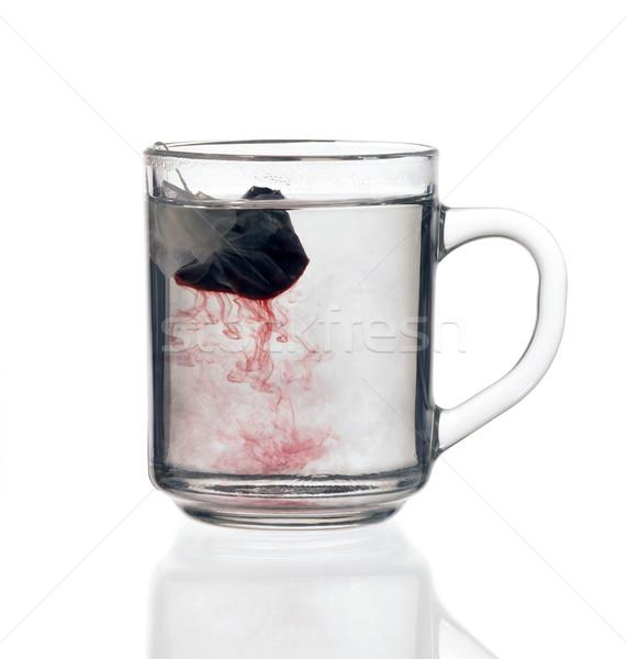 Stok fotoğraf: Cam · çay · fincanı · çay · çanta · şeffaf · sıvı