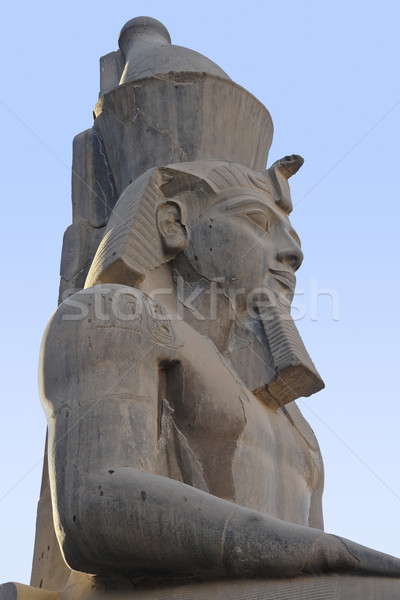 pharaonic statue at Luxor Temple in Egypt Stock photo © prill