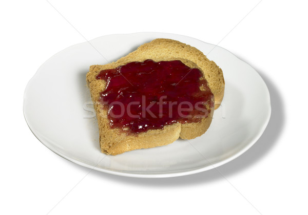 rusk and red jelly Stock photo © prill