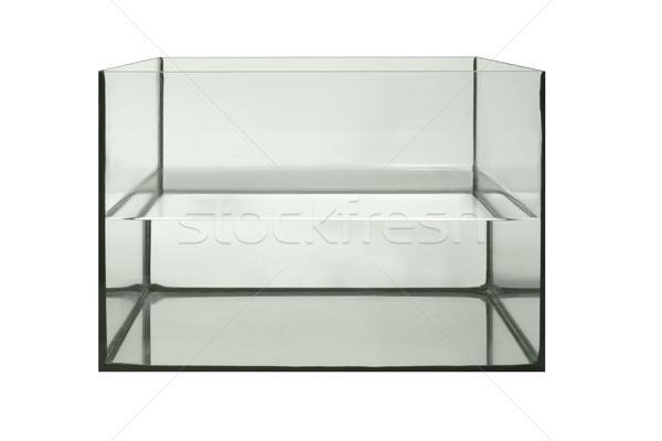 Hälfte Aquarium Studio Fotografie Wasser isoliert Stock foto © prill