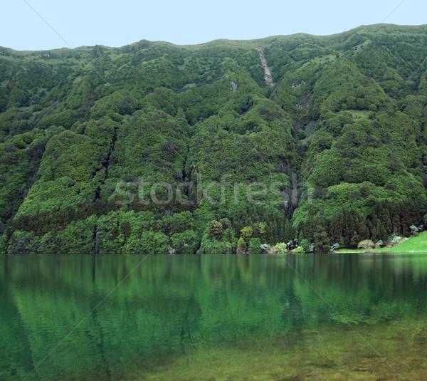 のどかな 風景 湖 丘 島 ストックフォト © prill