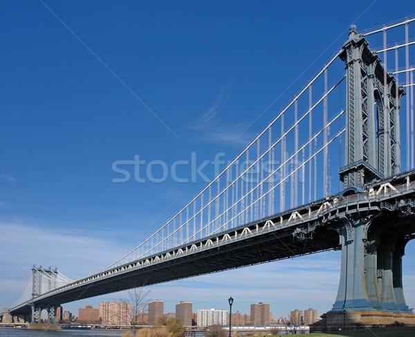 Manhattan Bridge in New York Stock photo © prill