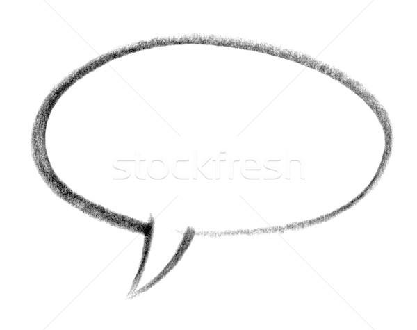 speech balloon icon Stock photo © prill