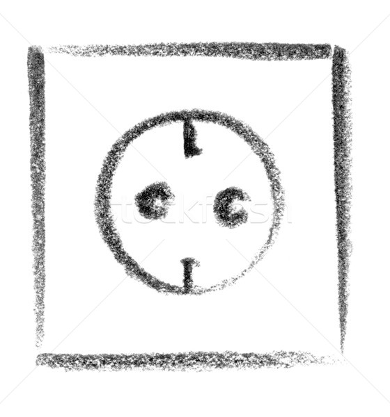 receptacle icon Stock photo © prill