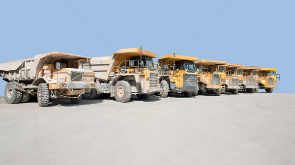 dirty haul trucks Stock photo © prill