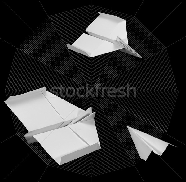 paper planes and spider web Stock photo © prill