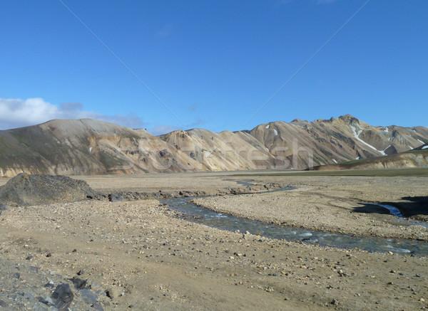 Természetes díszlet Izland víz természet kő Stock fotó © prill