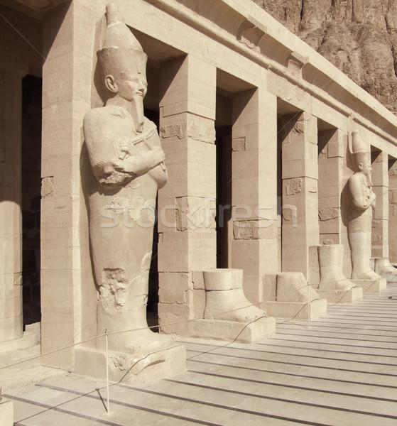 Részlet ősi kő Egyiptom napos művészet Stock fotó © prill