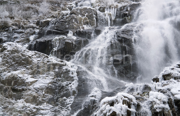 Todtnau Waterfall at winter time Stock photo © prill