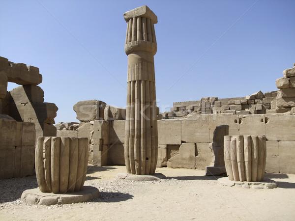 stone column around Precinct of Amun-Re Stock photo © prill