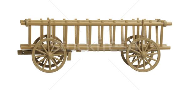 Nosztalgikus széna vagon modell fehér hát Stock fotó © prill