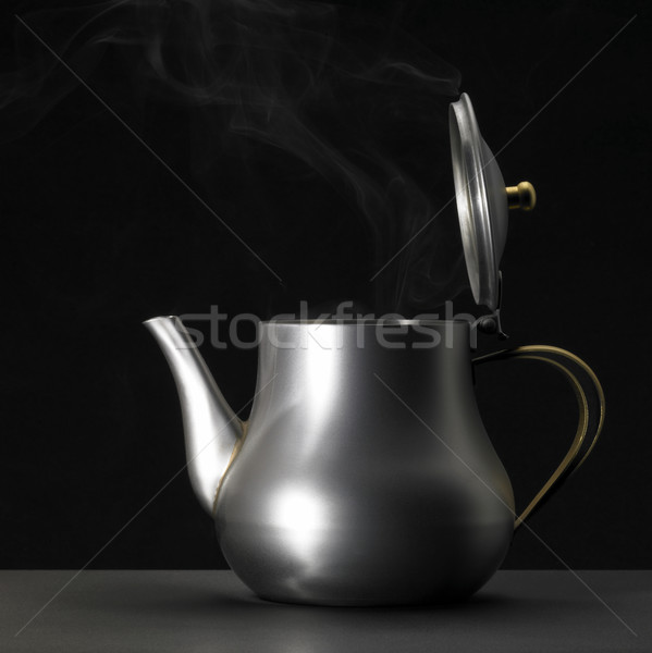 metallic tea pot sideways Stock photo © prill
