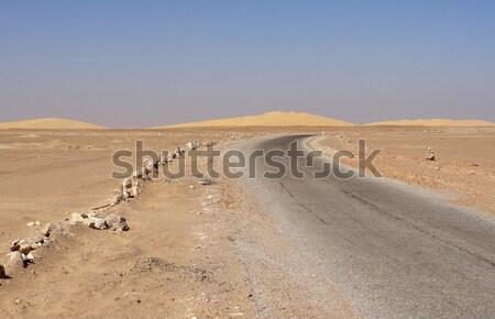 Desert road Stock photo © prill