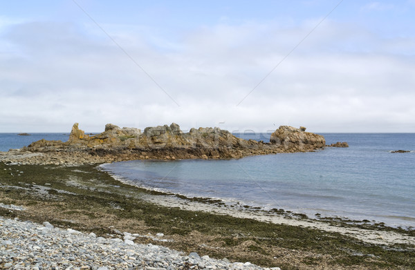 Rosa granito costa verano paisaje playa Foto stock © prill