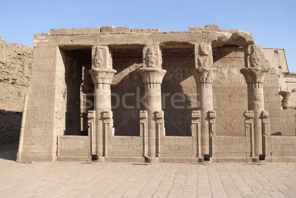 Etrafında tapınak manzara Mısır dekoratif taş Stok fotoğraf © prill
