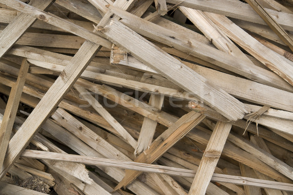 wooden chaos detail Stock photo © prill