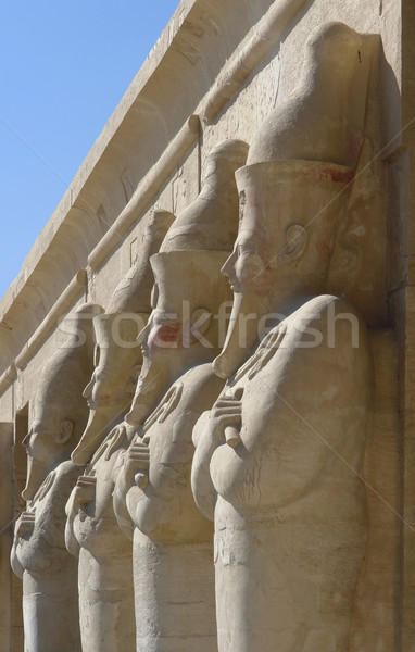 figures at the Mortuary Temple of Hatshepsut in Egypt Stock photo © prill