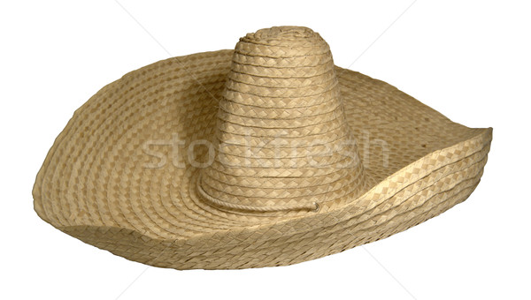 straw braided sombrero Stock photo © prill