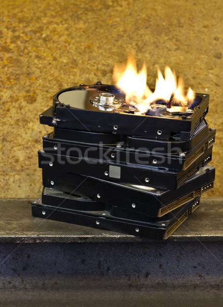 burning hard disks Stock photo © prill