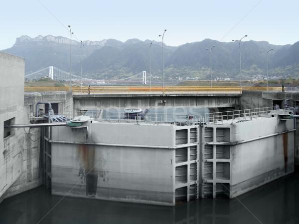 Three Gorges Dam detail Stock photo © prill
