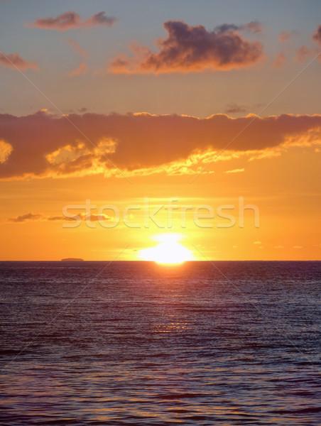 Wieczór dekoracje zachód słońca Karaibów wyspa Zdjęcia stock © prill