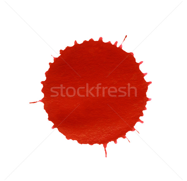 Vernice splatter rosso bianco indietro colore Foto d'archivio © prill