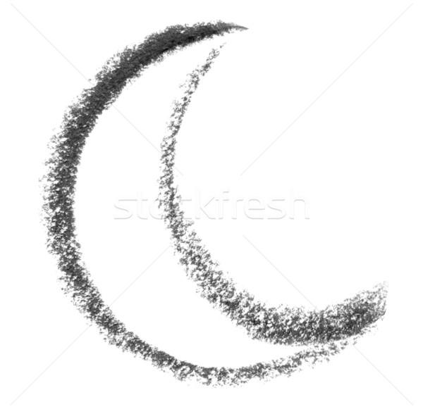 moon sketch Stock photo © prill