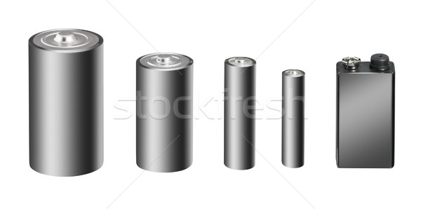 display of batteries Stock photo © prill
