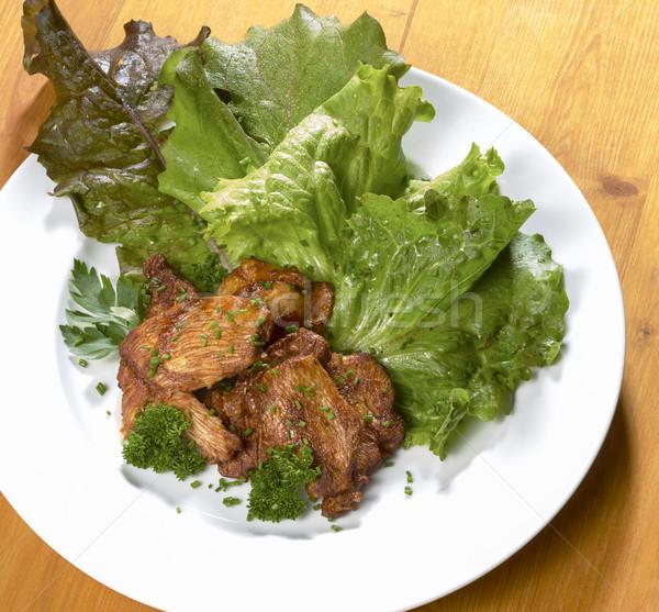 roasted chicken dish Stock photo © prill