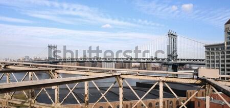 Manhattan Bridge in sunny ambiance Stock photo © prill